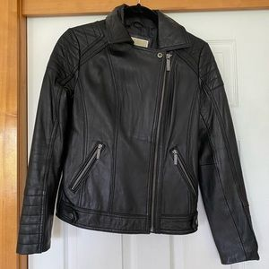 Michael Kors leather jacket size small, Nordstrom